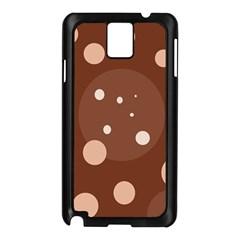 Brown abstract design Samsung Galaxy Note 3 N9005 Case (Black)