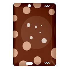 Brown abstract design Amazon Kindle Fire HD (2013) Hardshell Case