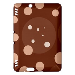 Brown abstract design Kindle Fire HDX Hardshell Case