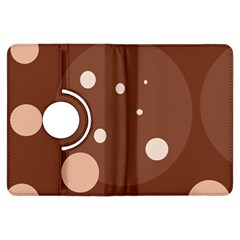 Brown abstract design Kindle Fire HDX Flip 360 Case