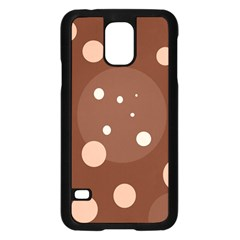 Brown abstract design Samsung Galaxy S5 Case (Black)