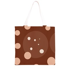 Brown abstract design Grocery Light Tote Bag