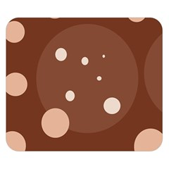 Brown abstract design Double Sided Flano Blanket (Small)
