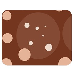 Brown abstract design Double Sided Flano Blanket (Medium)