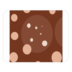 Brown abstract design Double Sided Flano Blanket (Large)