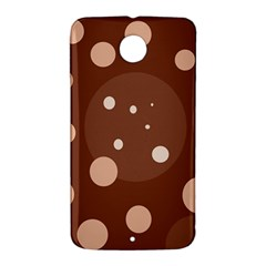Brown abstract design Nexus 6 Case (White)