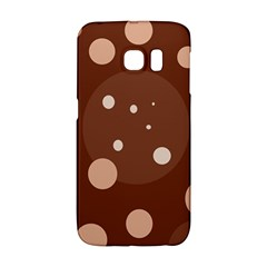 Brown abstract design Galaxy S6 Edge