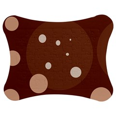 Brown abstract design Jigsaw Puzzle Photo Stand (Bow)