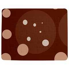 Brown abstract design Jigsaw Puzzle Photo Stand (Rectangular)