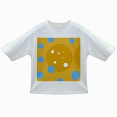 Blue and yellow moon Infant/Toddler T-Shirts