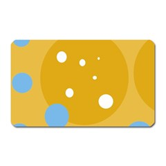 Blue and yellow moon Magnet (Rectangular)