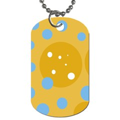 Blue and yellow moon Dog Tag (One Side)