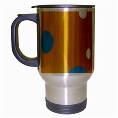 Blue and yellow moon Travel Mug (Silver Gray)