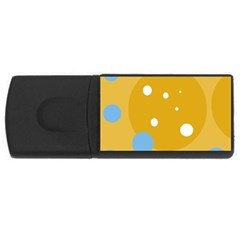Blue and yellow moon USB Flash Drive Rectangular (4 GB)