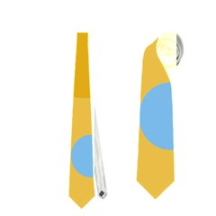 Blue and yellow moon Neckties (One Side)