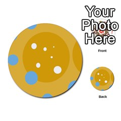 Blue and yellow moon Multi-purpose Cards (Round)