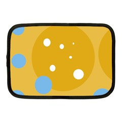 Blue and yellow moon Netbook Case (Medium)