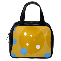 Blue and yellow moon Classic Handbags (One Side)