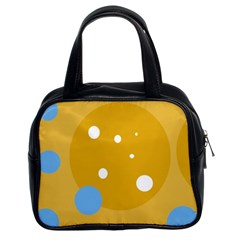 Blue and yellow moon Classic Handbags (2 Sides)