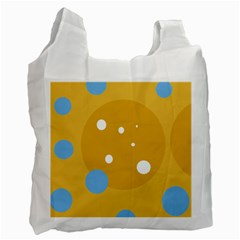 Blue and yellow moon Recycle Bag (One Side)