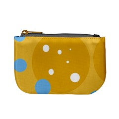 Blue and yellow moon Mini Coin Purses