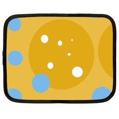 Blue and yellow moon Netbook Case (XL)