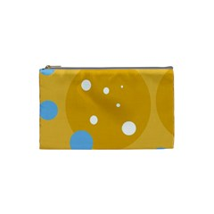 Blue and yellow moon Cosmetic Bag (Small)
