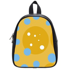 Blue and yellow moon School Bags (Small)