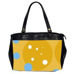 Blue and yellow moon Office Handbags (2 Sides)