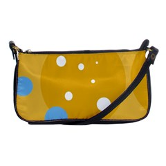 Blue and yellow moon Shoulder Clutch Bags