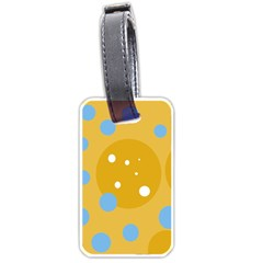 Blue and yellow moon Luggage Tags (Two Sides)