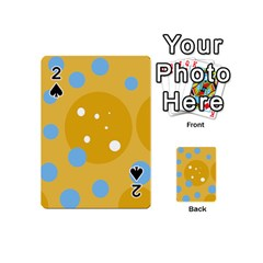 Blue and yellow moon Playing Cards 54 (Mini)