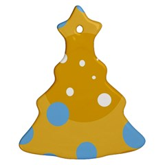 Blue and yellow moon Christmas Tree Ornament (2 Sides)