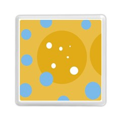 Blue and yellow moon Memory Card Reader (Square)