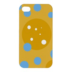 Blue and yellow moon Apple iPhone 4/4S Hardshell Case