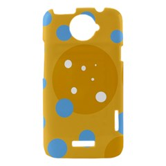 Blue and yellow moon HTC One X Hardshell Case