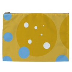 Blue and yellow moon Cosmetic Bag (XXL)
