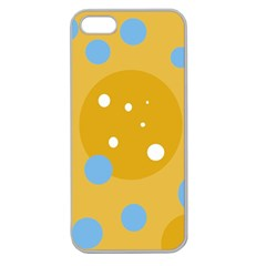 Blue and yellow moon Apple Seamless iPhone 5 Case (Clear)