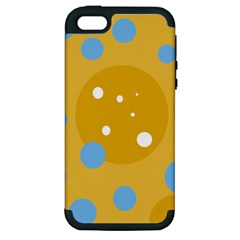 Blue and yellow moon Apple iPhone 5 Hardshell Case (PC+Silicone)