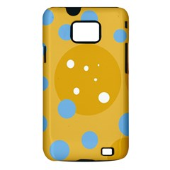 Blue and yellow moon Samsung Galaxy S II i9100 Hardshell Case (PC+Silicone)