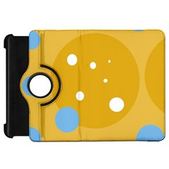 Blue and yellow moon Kindle Fire HD Flip 360 Case