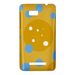 Blue and yellow moon HTC One SU T528W Hardshell Case