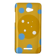 Blue and yellow moon HTC Butterfly X920E Hardshell Case