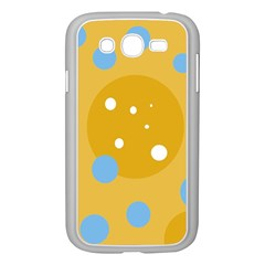 Blue and yellow moon Samsung Galaxy Grand DUOS I9082 Case (White)