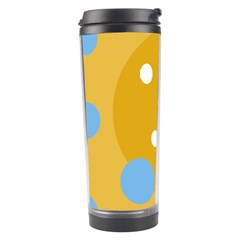 Blue and yellow moon Travel Tumbler