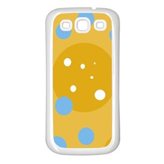 Blue and yellow moon Samsung Galaxy S3 Back Case (White)