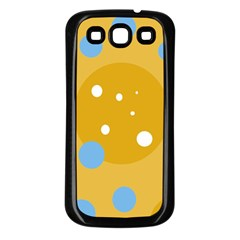 Blue and yellow moon Samsung Galaxy S3 Back Case (Black)