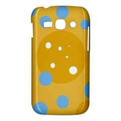Blue and yellow moon Samsung Galaxy Ace 3 S7272 Hardshell Case