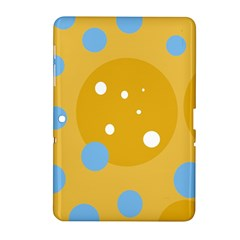 Blue and yellow moon Samsung Galaxy Tab 2 (10.1 ) P5100 Hardshell Case