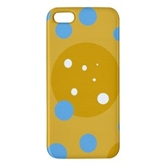 Blue and yellow moon iPhone 5S/ SE Premium Hardshell Case